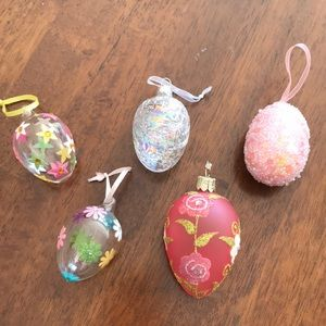 Other - Set of five decorative glass Easter eggs